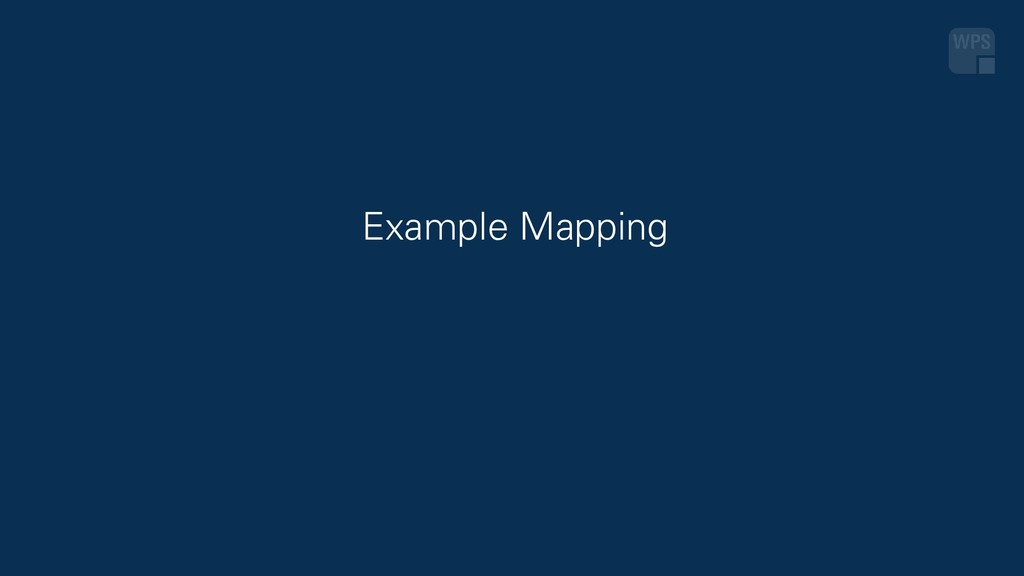 Example Mapping