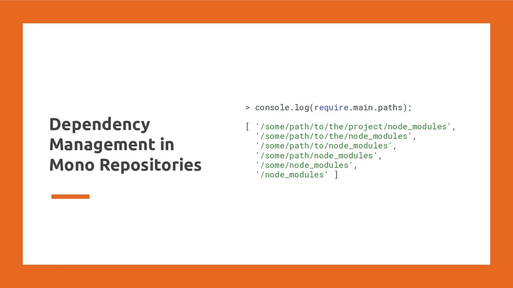 Dependency Management in Mono Repositories > co...