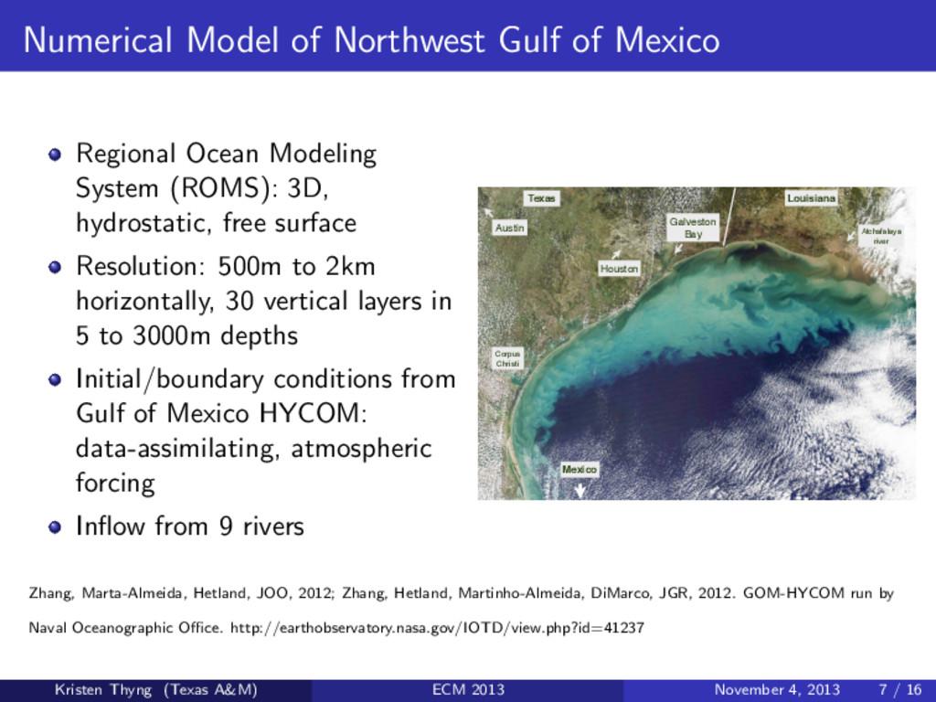 Numerical Model of Northwest Gulf of Mexico Reg...