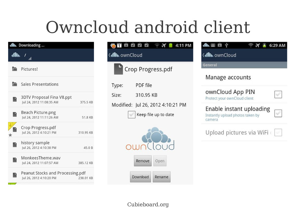 Cubieboard.org Owncloud android client