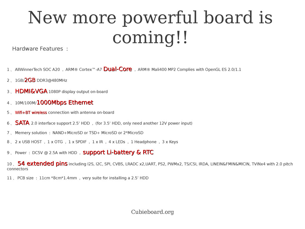 Cubieboard.org New more powerful board is comin...