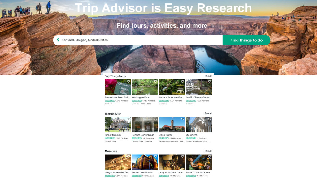 Trip Advisor is Easy Research