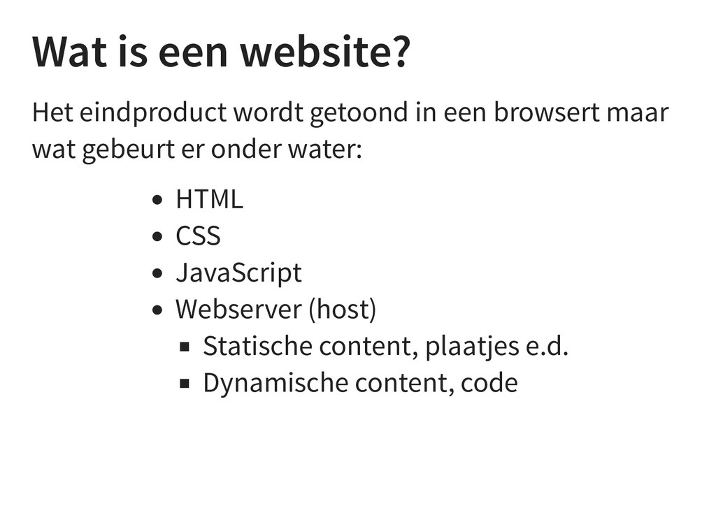 Wat is een website? Het eindproduct wordt getoo...