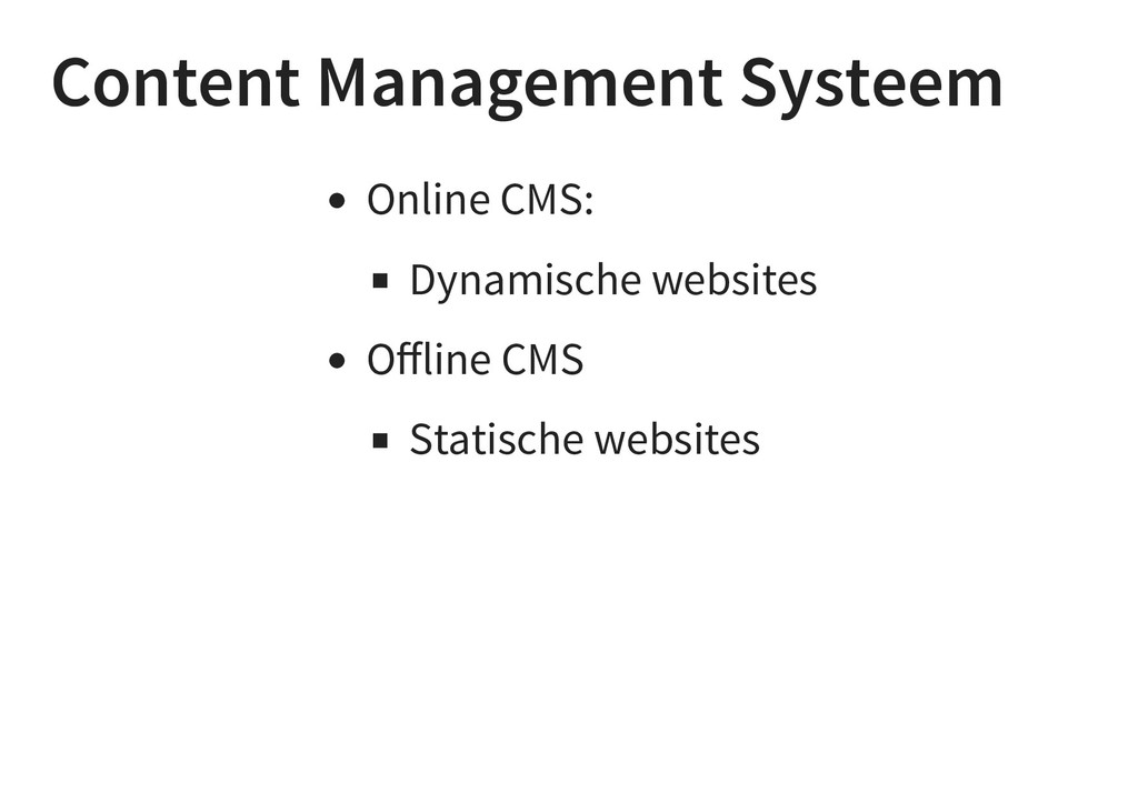 Content Management Systeem Online CMS: Dynamisc...