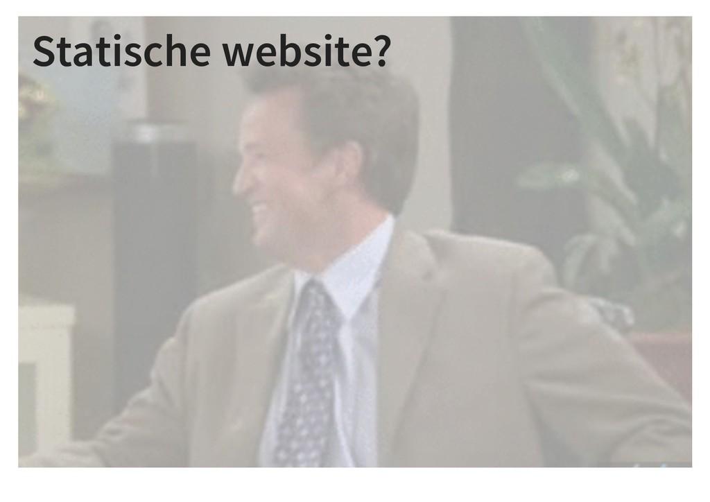 Statische website?