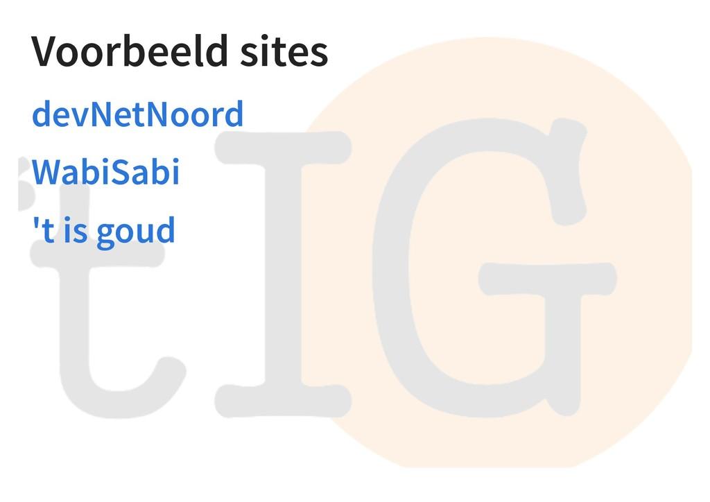 Voorbeeld sites devNetNoord WabiSabi 't is goud