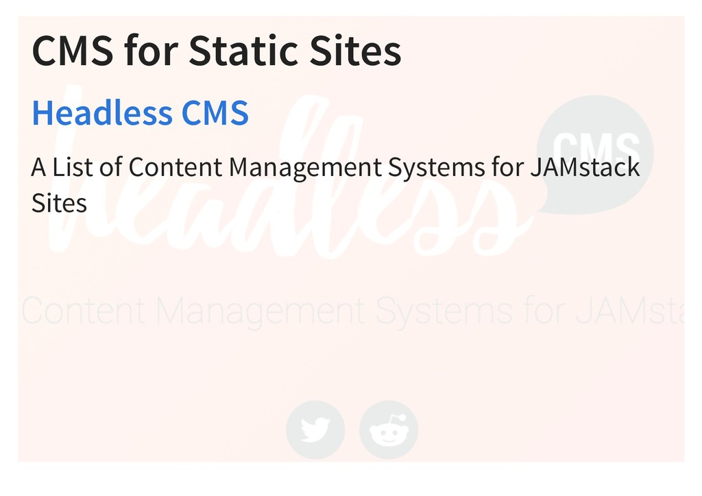 CMS for Static Sites A List of Content Manageme...