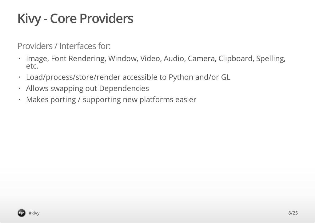 Kivy - Core Providers Providers / Interfaces fo...