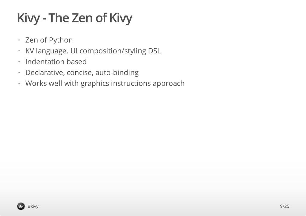 Kivy - The Zen of Kivy #kivy Zen of Python KV l...