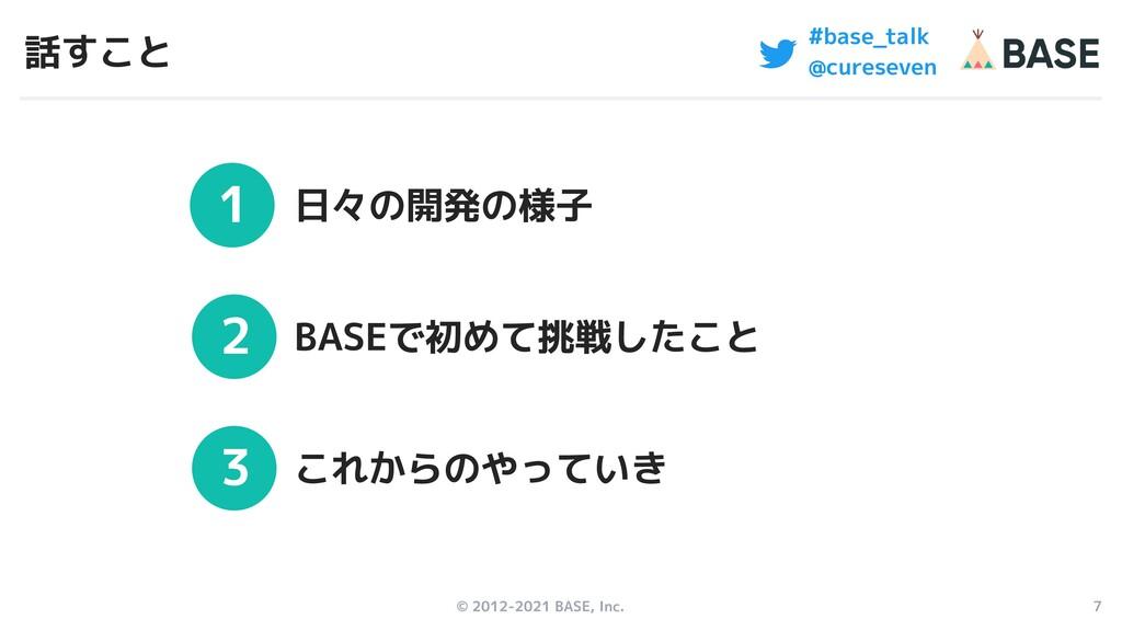 © 2012-2021 BASE, Inc. 7 1 2 3 #base_talk @cure...