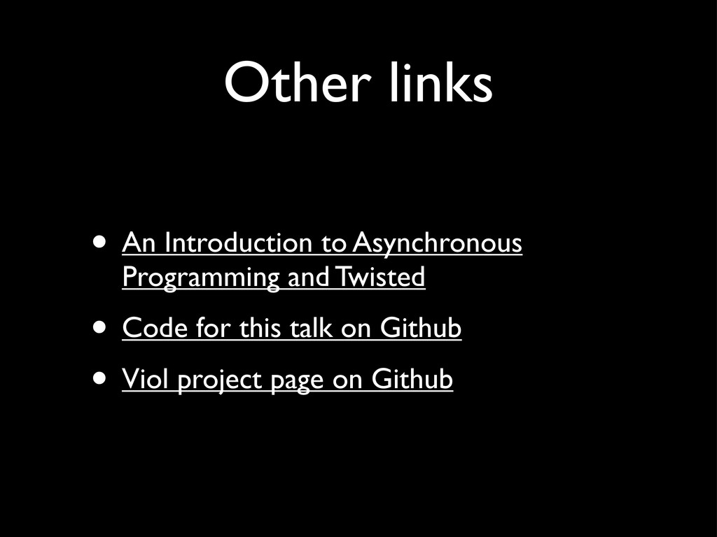 Other links • An Introduction to Asynchronous P...
