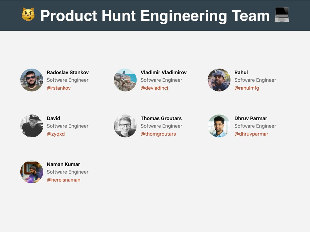 ! Product Hunt Engineering Team ""