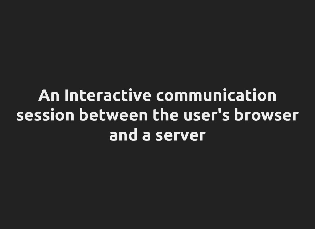 An Interactive communication session between th...