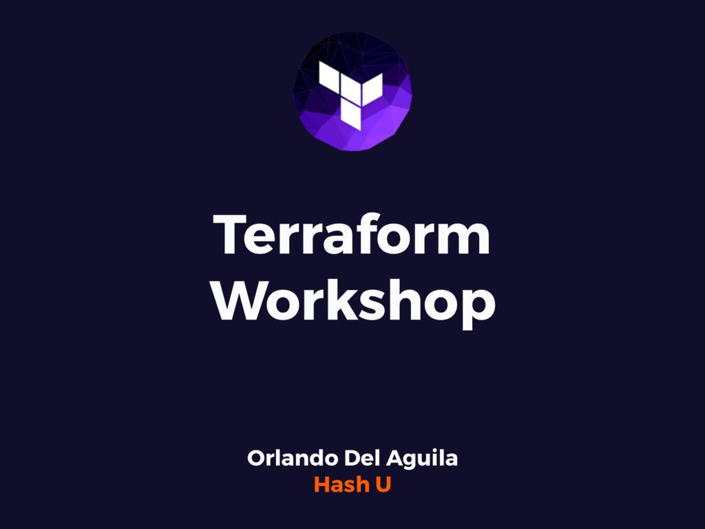 Terraform Workshop Orlando Del Aguila Hash U