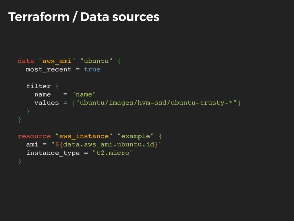 """Terraform / Data sources data """"aws_ami"""" """"ubuntu..."""