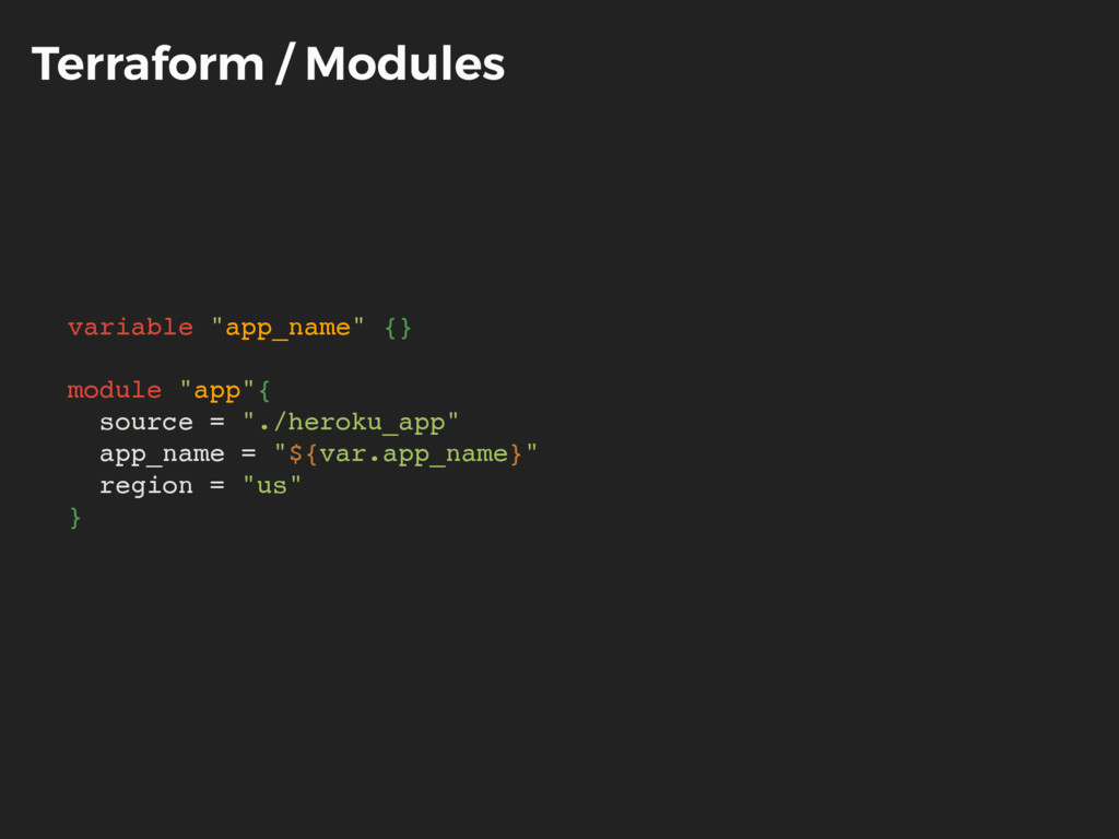 "Terraform / Modules variable ""app_name"" {} modu..."