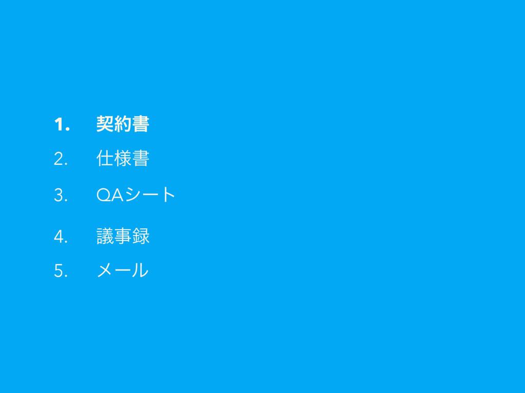 1. ܖॻ 2. ༷ॻ 3. QAγʔτ 4. ٞ 5. ϝʔϧ