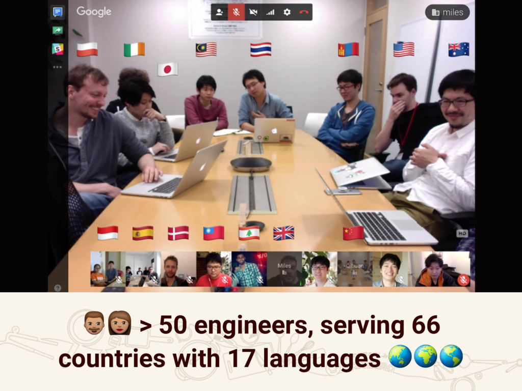 """!"""" > 50 engineers, serving 66 countries with 17..."""