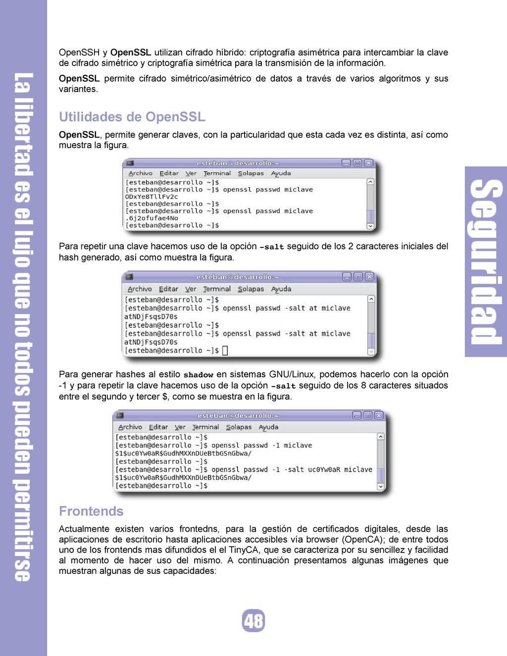 OpenSSH y OpenSSL utilizan cifrado híbrido: cri...