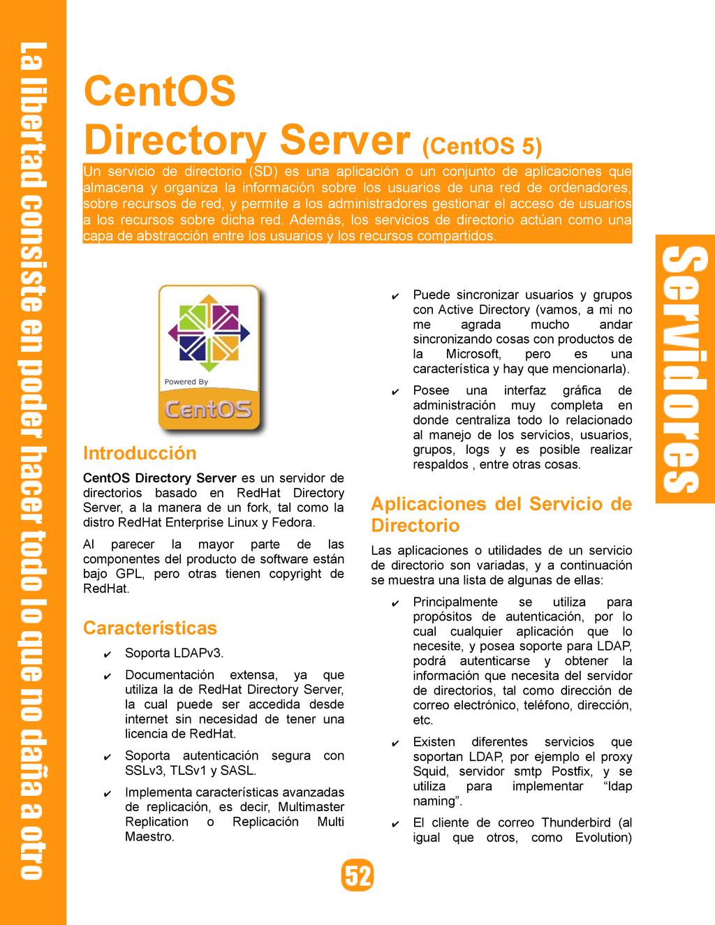 CentOS Directory Server (CentOS 5) Un servicio ...