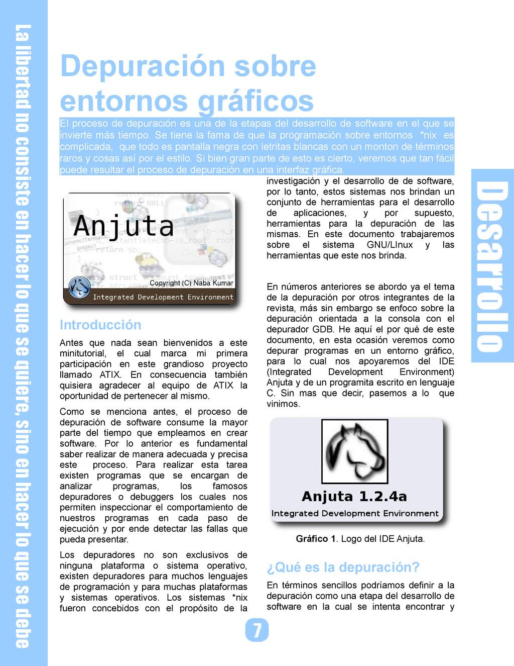 Depuración sobre entornos gráficos El proceso d...