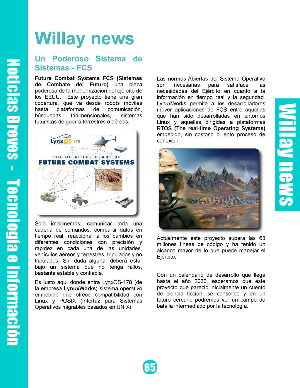 Willay news Un Poderoso Sistema de Sistemas - F...