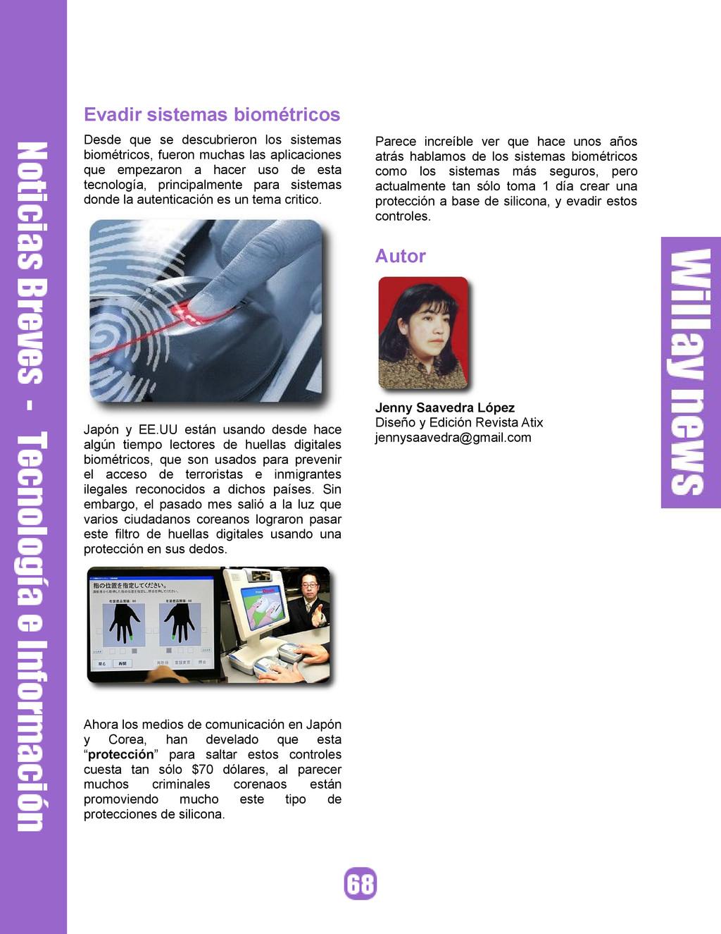 Evadir sistemas biométricos Desde que se descub...