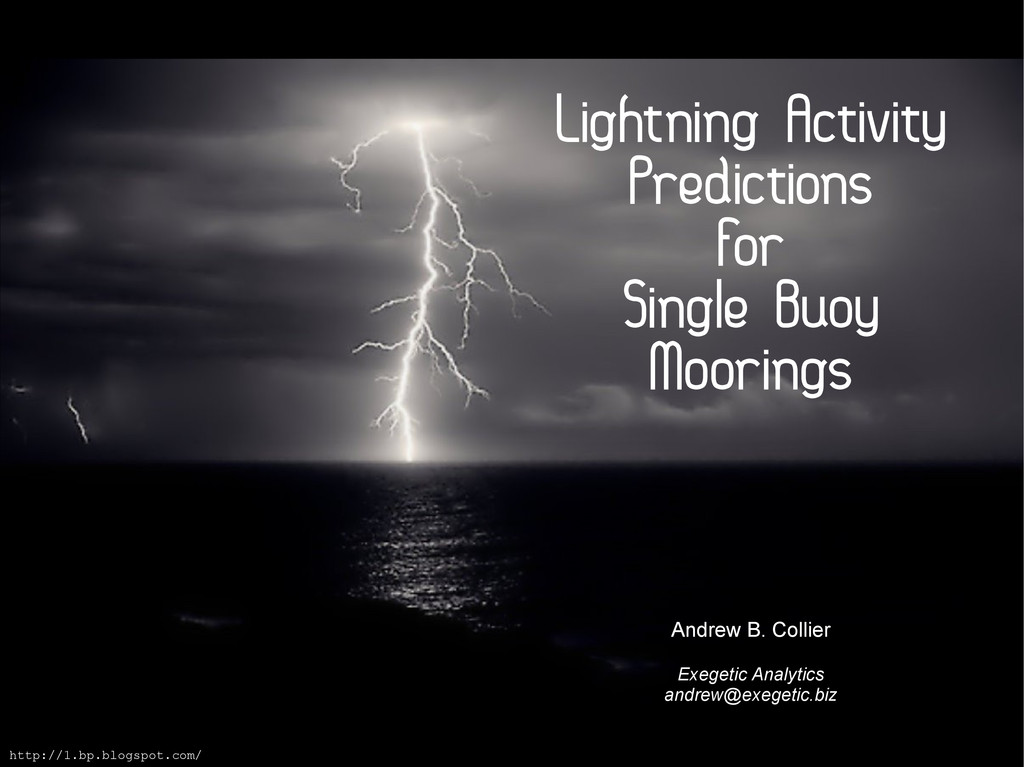 Lightning Activity Predictions For Single Buoy ...