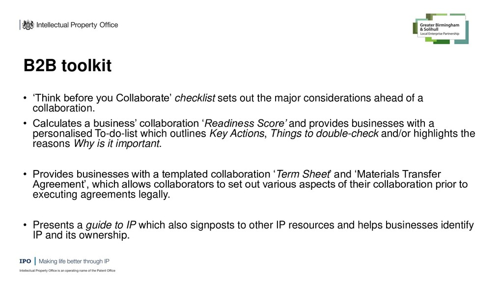 B2B toolkit • 'Think before you Collaborate' ch...