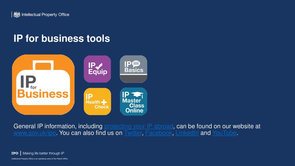 IP for business tools General IP information, i...