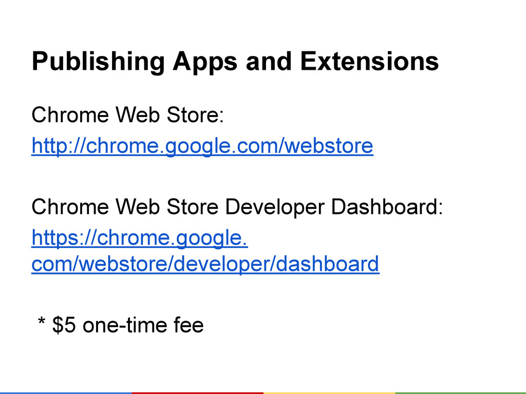 Publishing Apps and Extensions Chrome Web Store...