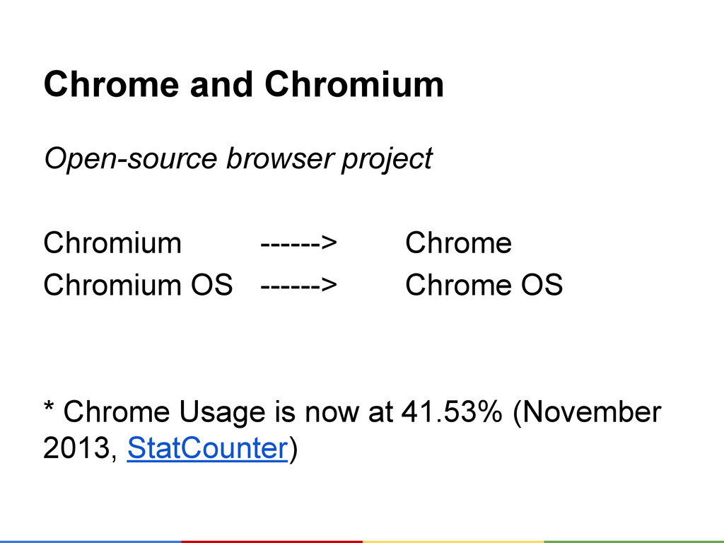 Chrome and Chromium Open-source browser project...