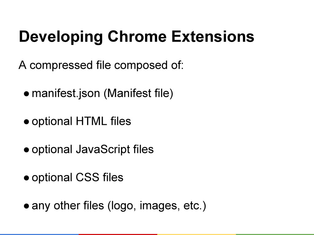 Developing Chrome Extensions A compressed file ...
