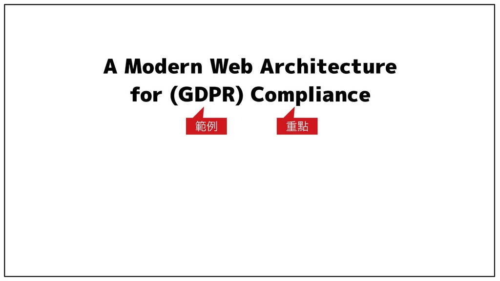 A Modern Web Architecture for (GDPR) Compliance...