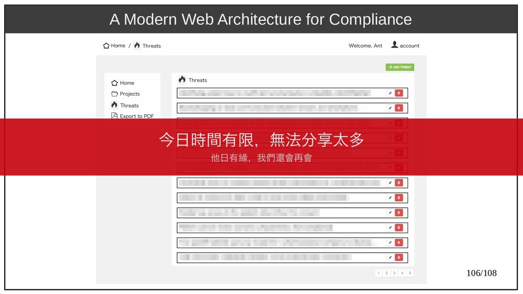 106/108 A Modern Web Architecture for Complianc...