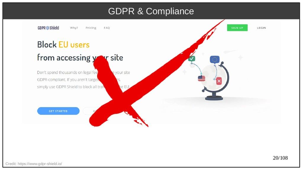 20/108 Credit: https://www.gdpr-shield.io/ GDPR...