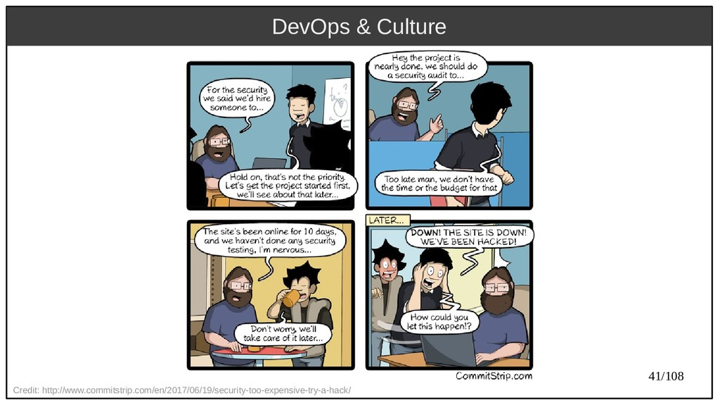 41/108 DevOps & Culture Credit: http://www.comm...