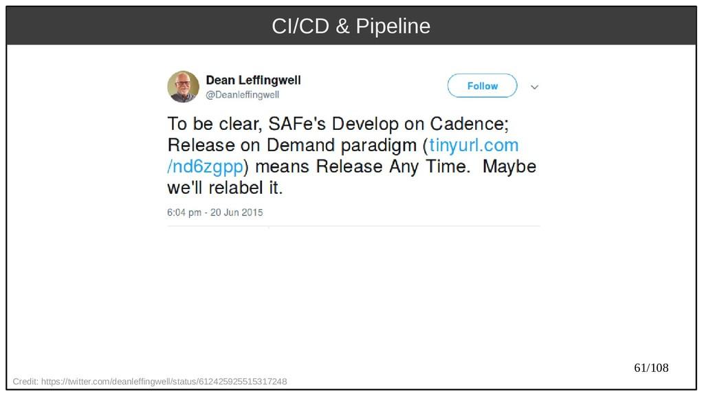 61/108 CI/CD & Pipeline Credit: https://twitter...