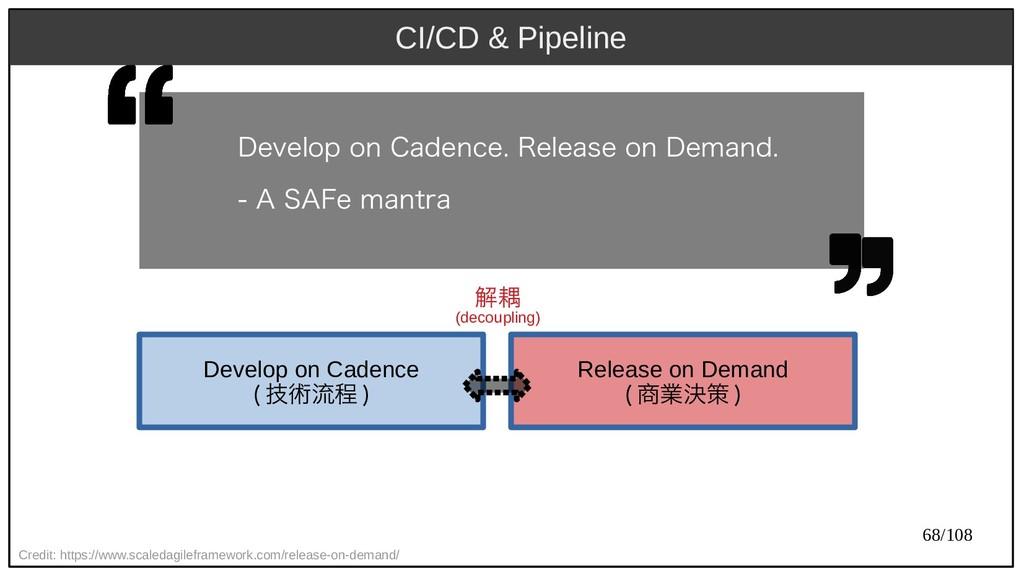 68/108 CI/CD & Pipeline Credit: https://www.sca...