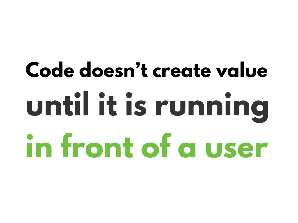 Code doesn't create value until it is running i...