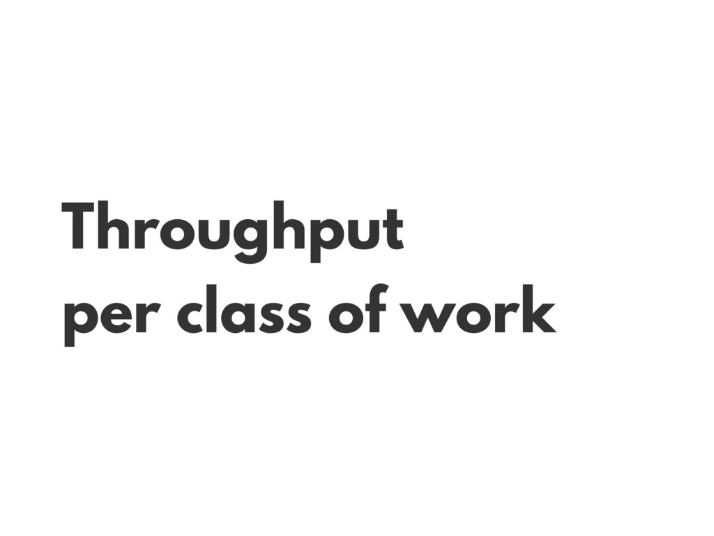 Throughput per class of work