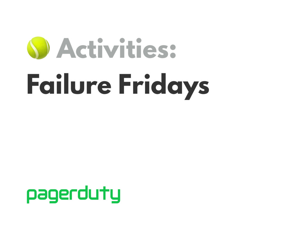 Activities: Failure Fridays