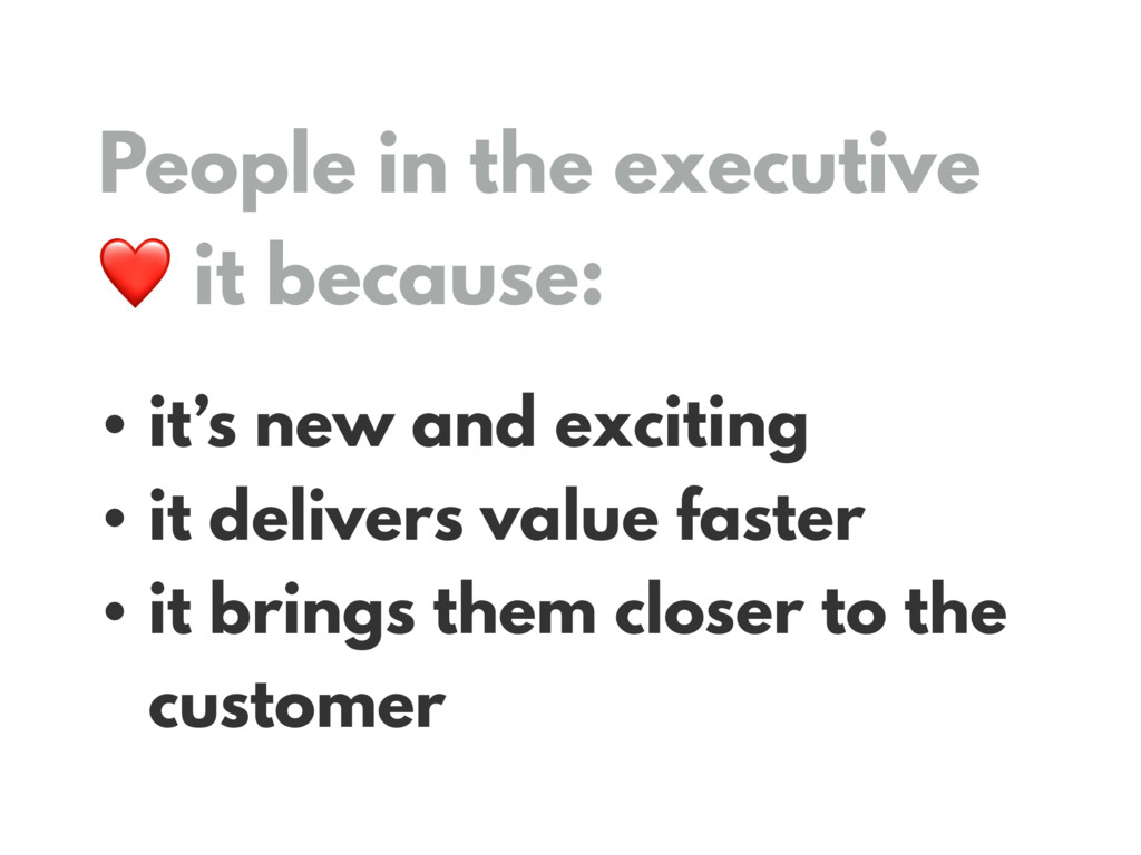 People in the executive 