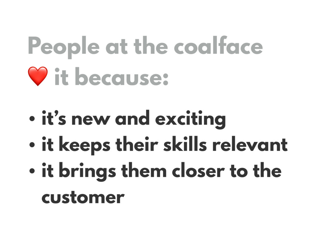 People at the coalface 