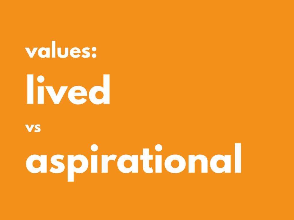 values: lived vs aspirational
