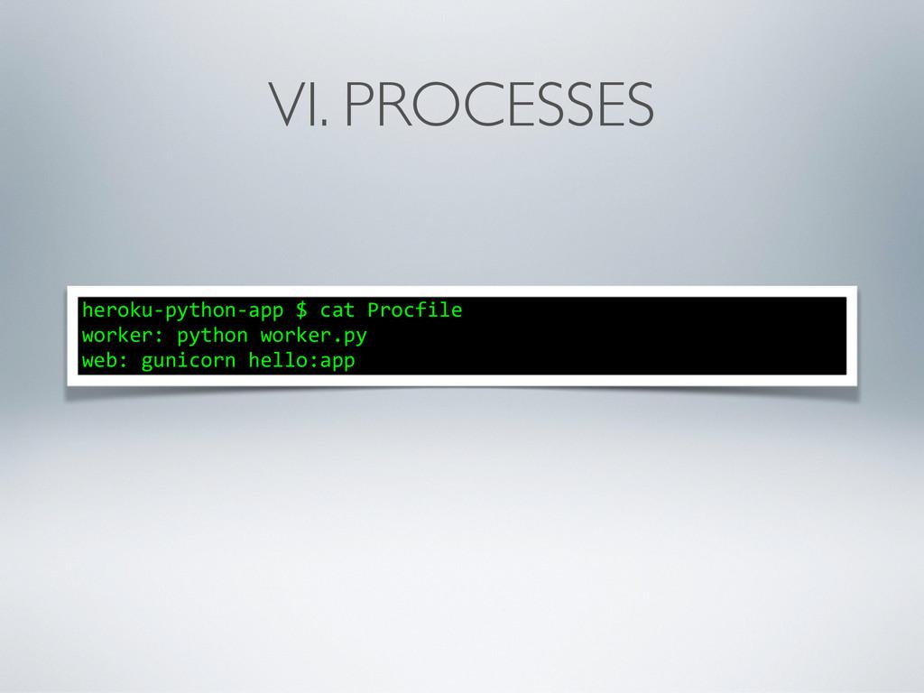VI. PROCESSES heroku-‐python-‐app $ cat...