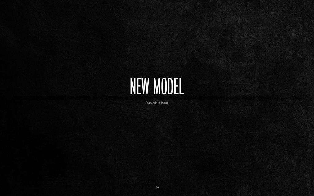 NEW MODEL 10 Post-crisis ideas