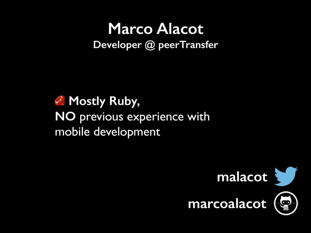 malacot Marco Alacot Developer @ peerTransfer m...
