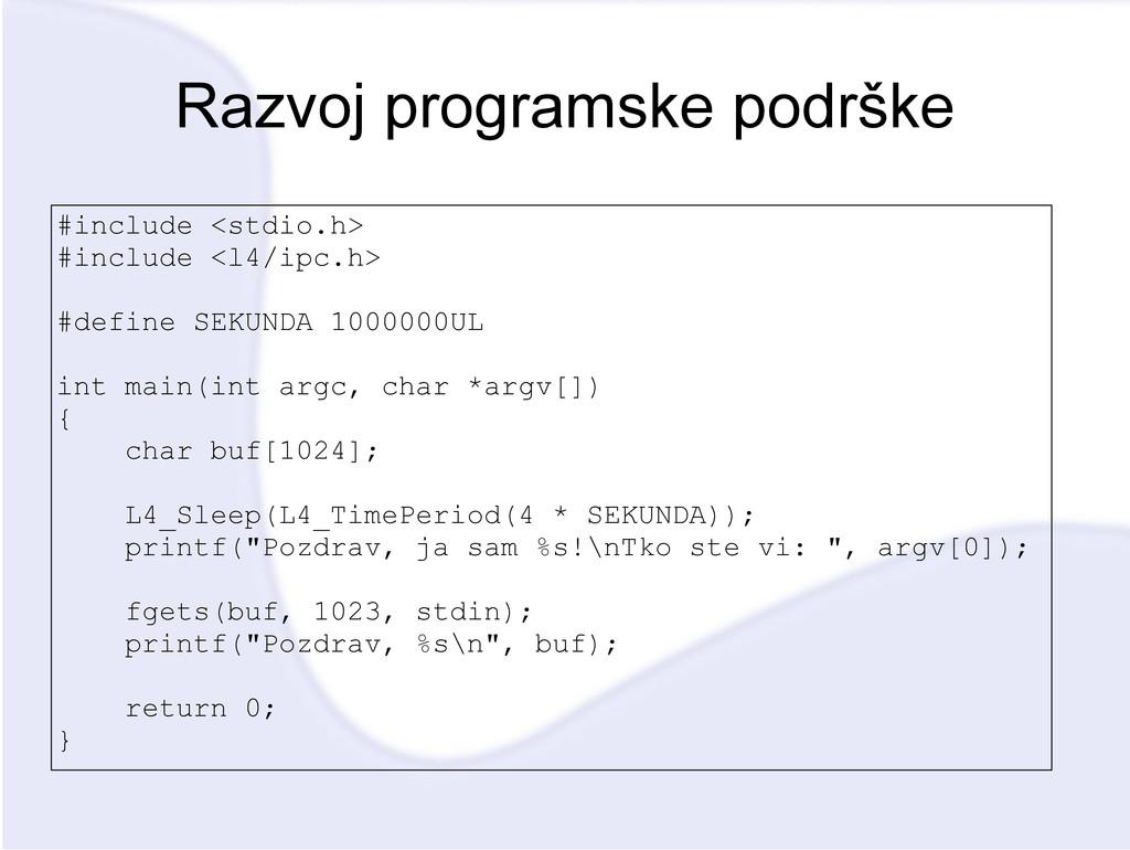 Razvoj programske podrške #include <stdio.h> #i...