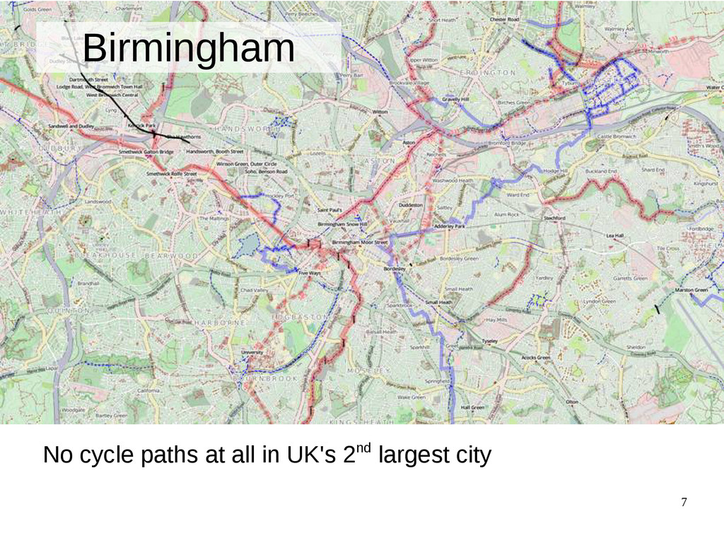 7 Birmingham No cycle paths at all in UK's 2nd ...